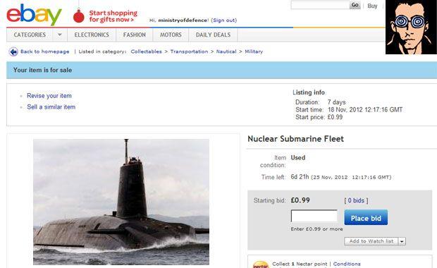 Ebay Removed My Nuclear Submarine Fleet