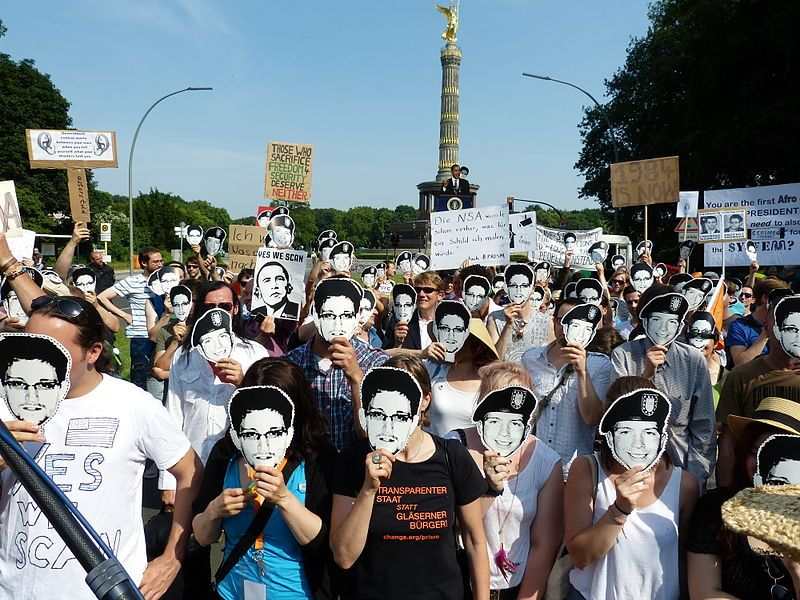 Demonstration in Berlin supporting media freedoms