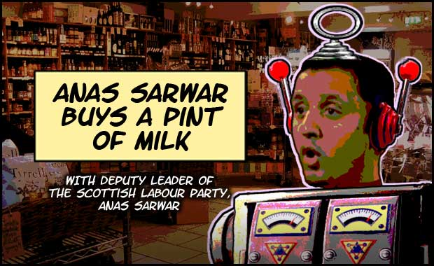 Anas Sarwar Buys A Pint Of Milk