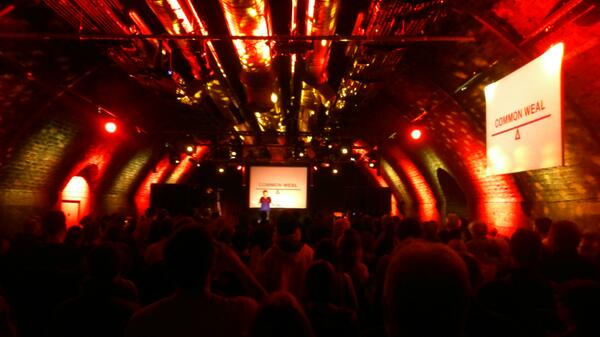 The Common Weal launch in The Arches, Glasgow. Photo from Lateral North.