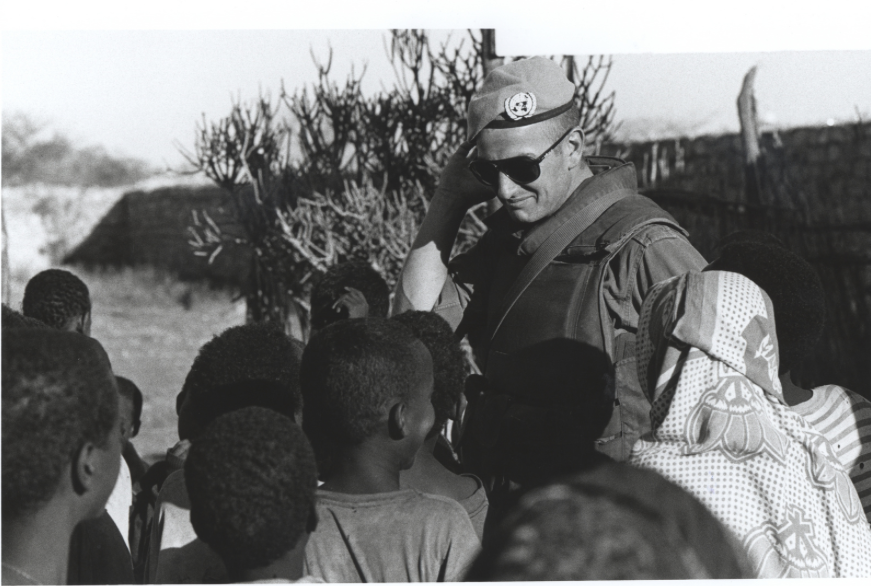 Irish soldier during the UN operation in Somalia. Defence Forces Archive.